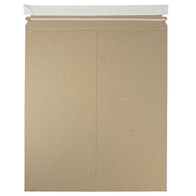 JAM Paper® Photo Mailer Stiff Envelopes, Self Adhesive Closure, 12.75 x 15, Brown Kraft Recycled, Sold Individually (8866645)