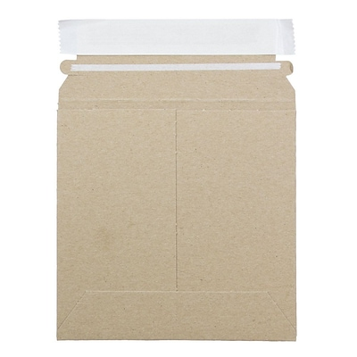 JAM Paper® Photo Mailer Stiff Envelopes with Self Adhesive Closure, 6 x 6 Square , Brown Kraft Recycled, 6/Pack (8866639B)