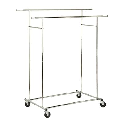 Honey Can Do Dual Bar Commercial Garment Rack (GAR-01305)