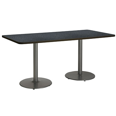 KFI 30 x 72 HPL Rectangle Table Graphite Nebula (T3072B1917SLGRN)
