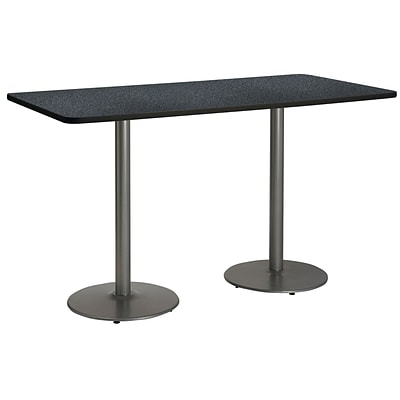 KFI 30 x 72 Bar Height HPL Rectangle Table Graphite Nebula (T3072B17SLGRN38)