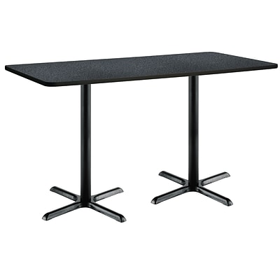 KFI 30 x 72 Bar Height HPL Rectangle Table Graphite Nebula (3072B2015BKGR38)