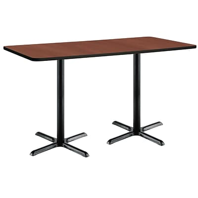 KFI 36 x 72 Bar Height HPL Rectangle Table Mahogany (3672B2025BKMH38)