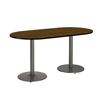 KFI 30 x 72 HPL RaceTrack Table Walnut (T3072RB1917SLWL)