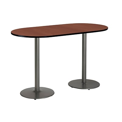 KFI 30 x 72 Bar Height HPL RaceTrack Table Mahogany (T3072RB197SMH38)