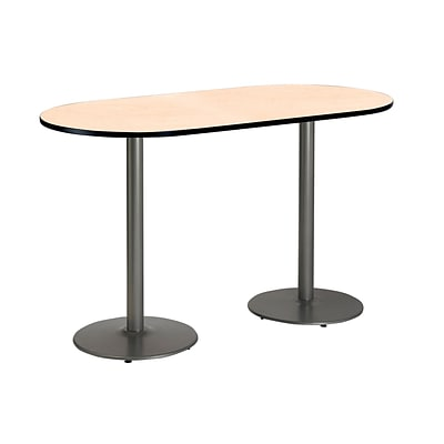 KFI 36 x 72 Bar Height HPL RaceTrack Table Natural (T3672RB192SNA38)