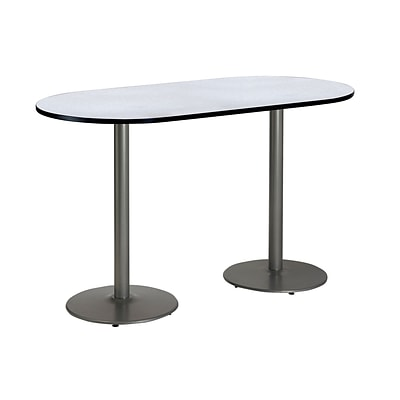 KFI 36 x 72 Bar Height HPL RaceTrack Table Grey Nebula (T3672RB192SGN38)