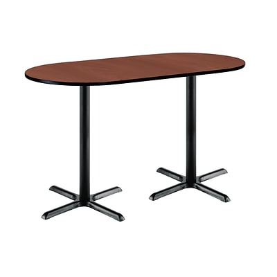 KFI 30 x 72 Bar Height HPL RaceTrack Table Mahogany (3072R2015BKMH38)