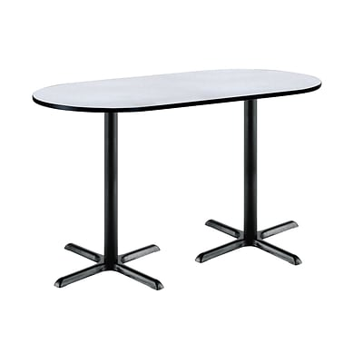 KFI 36 x 72 Bar Height HPL RaceTrack Table Grey Nebula (3672R2025BKGN38)