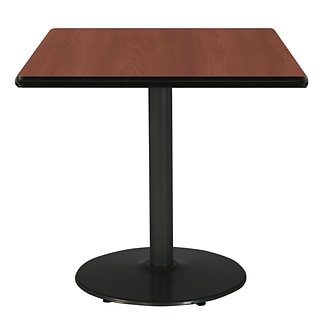 KFI 36 Square HPL Table Mahogany (T36SQB1922BKMH)