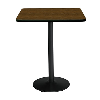 KFI 36 Square Bar Height HPL Table Walnut (36SQB1922BKWL38)