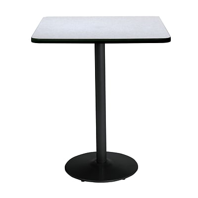 KFI 36 Square Bar Height HPL Table Grey Nebula (36SQB1922BKGY38)