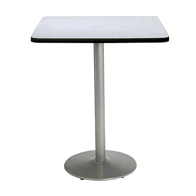 KFI 30 Square Bar Height HPL Table Grey Nebula (30SQB1917SLGY38)