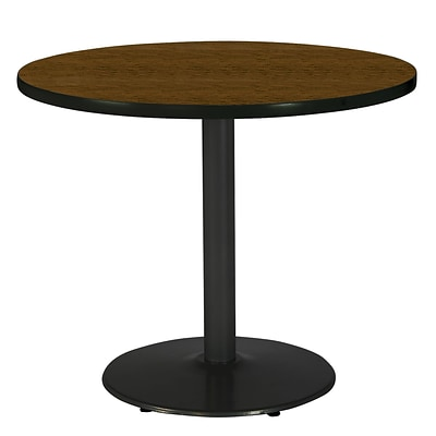 KFI 36 Round HPL Table Walnut (T36RDB1922BKWL)