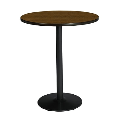 KFI 42 Round Bar Height HPL Table Walnut (42RDB1922BKWL38)