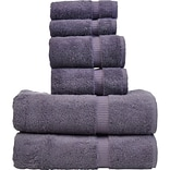 Bare Cotton 6 Piece Turkish Cotton Towel Set; Plum