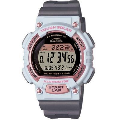 Casio® Solar Powered Digital Sports Watch; Grey (STLS300H-4A)