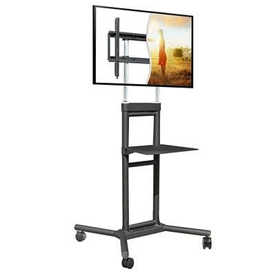 DoubleSight DISPLAYS Mobile TV Display Stand for 32 - 70 Display, Black (DS5070CT)