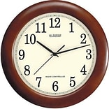 La Crosse Technology® 12 1/2Dia x 1 1/2D Brown Analog Atomic Wall Clock (WT3122A)