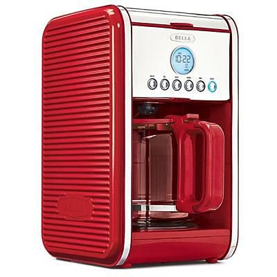 BELLA® 14108 Linea Collection 12 Cup Programmable Coffee Maker; Red