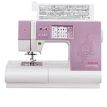 Singer® Quantum Stylist Touch Purple/White Electronic Sewing Machine (9985.CL)