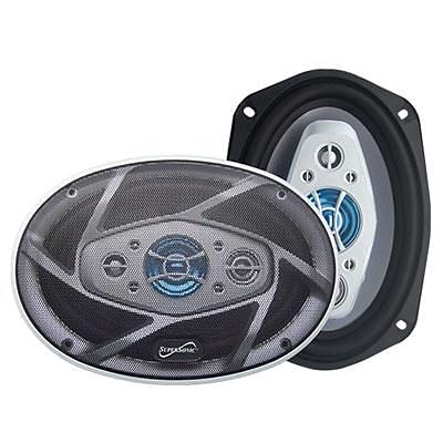Supersonic® SC6904 1200 W 8-Way Car Stereo Speaker; Black