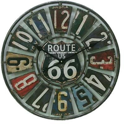 Taylor® Springfield Indoor/Outdoor 22Dia Route 66 Analog Wall Clock (98266)