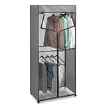 Whitmor 68.5H x 30.3W x 18D Steel Gray Zippered Double Rod Closet (69055955)