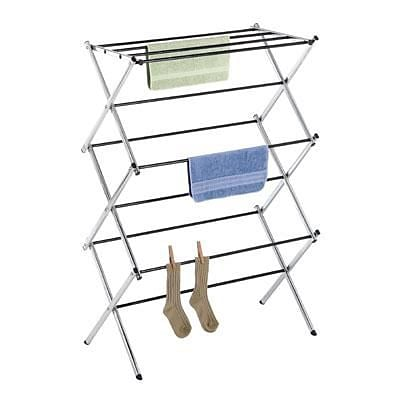 Whitmor Folding Clothes Drying Rack, Chrome (6060-741)