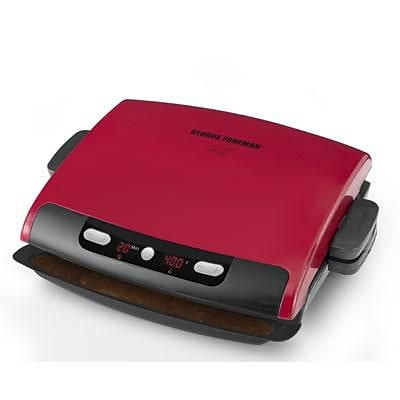 George Foreman® 6 Serving Removable Plate Grill; Red (GRP95)