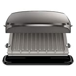 George Foreman® 4 Serving Electric Grill; Platinum (GRP3060)