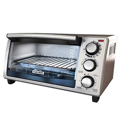 Black & Decker™ 4-Slice Countertop Toaster Oven, Silver (TO1373SSD)
