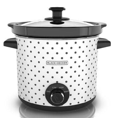 Black & Decker(tm) 4 Qt. Classic Slow Cooker; Black/white Polka Dots (sc1004d)