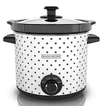 Black & Decker™ 4 qt. Classic Slow Cooker; Black/White Polka Dots (SC1004D)