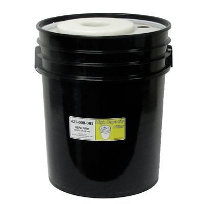 Atrix HEPA Filter Bucket for High Capacity Vacuum Systems; Black (421-000-005)