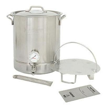 Bayou Classic(r) 800 408 8 Gallon 6 Piece Stainless Steel Brew Kettle Set; Silver