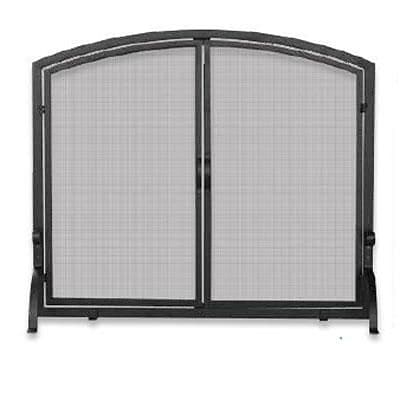 Blue Rhino® Uniflame® 39 Medium Single-Panel Fireplace Screen with Doors; Black (S1062)