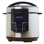 Brentwood 6 qt. Electric Pressure Cooker; Silver/Black (EPC626)