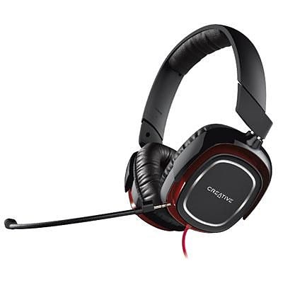 Creative® Draco HS880 Stereo Over-the-Head Gaming Headset with Mic; Black