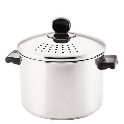 Farberware(r) Classic Series Stainless Steel Covered Straining Stock Pot; 8 Quart (70755)