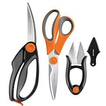 Fiskars 3-Piece Kitchen Shear Set; Orange/Gray/Black (5100611001)