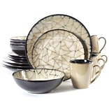 Gibson® Elite Zambezi Stoneware 16-Piece Dinnerware Set; Cream, 63306.16