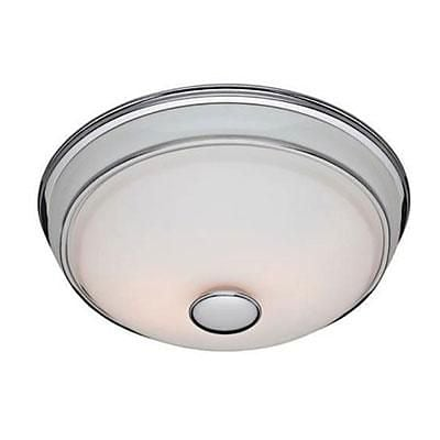 Hunter® Victorian 6.45 x 7.78 x 8.35 Traditional Bathroom Exhaust Fan with Light; Chrome (81021)