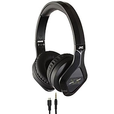 JVC HASBT200X Elation XX Stereo Bluetooth Over-the-Head Headset with Mic; Black