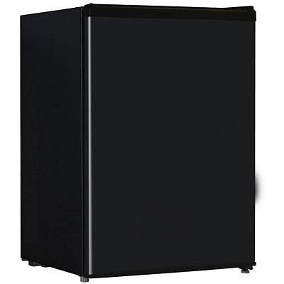 Midea HS87L Full Width Single Section Compact Refrigerator; Black