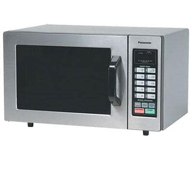 Panasonic 0.8 cu. ft. Commercial Microwave Oven, Silver (NE1054F)