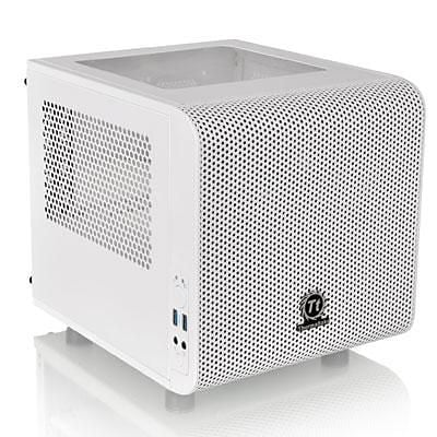 Thermaltake® Core V1 Snow Edition Window Mini Computer Chassis, 4xBay, for Mini ITX Motherboard (CA-1B8-00S6WN-01)