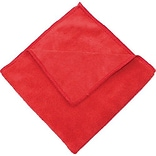 Zwipes 16 x 16 Microfiber Cleaning Towel; Red Package Of 12 (H1-726)
