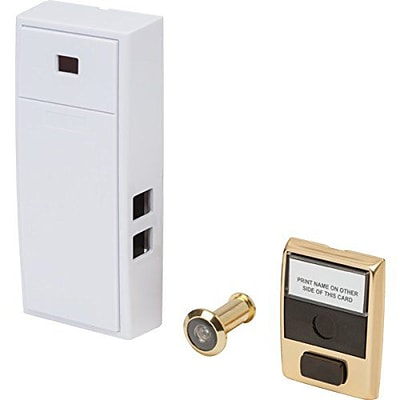 Everyday Two Note Mechanical Door Chime and Door Button with Separate Door Viewer Peephole (MCH2V)