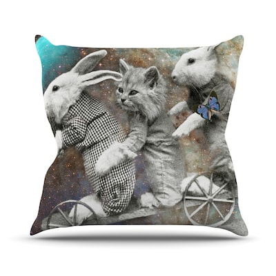 KESS InHouse Space Travel Outdoor Throw Pillow